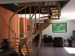 Artisan fabriquant escalier bois morbihan 56 Nivillac