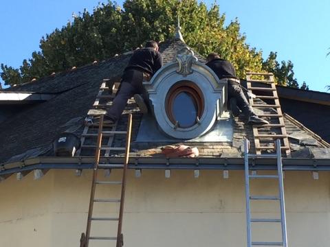 fabrication ossature pour lucarne œil de boeuf bâtiment de France La Roche Bernard 56