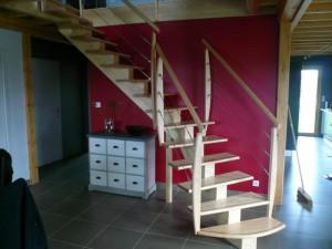 Escalier 1/4 tournant Marzan dans le morbihan (56) poroche Loire Atlantique (44)
